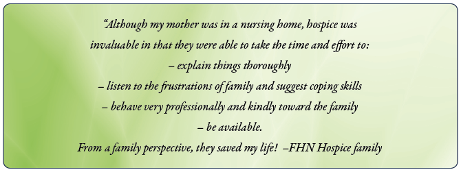 Why choose FHN Hospice? - Services - FHN