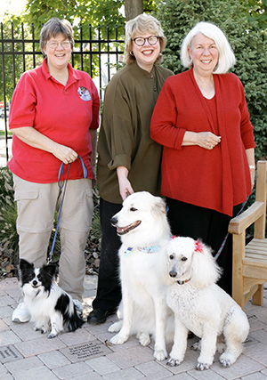 Jan, Marilyn & Carol with their therapy dogs